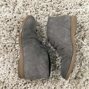 Shoes - Gray Suede Shoes